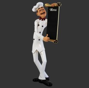 H-30509 Chef Skinny with Menubord - Kok