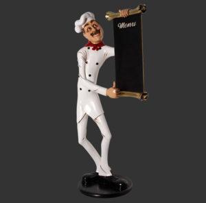 H-30518 Chef Skinny with Menubord - Kok
