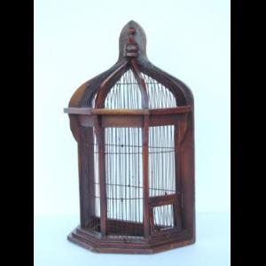 055 Birdcage Octagonal Half - Vogelkooi