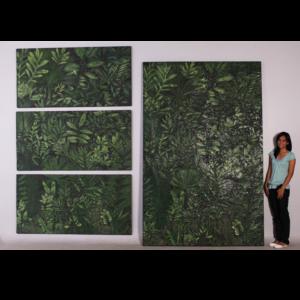 H-100063 Freeze Jungle Triptych - Dinosaurus