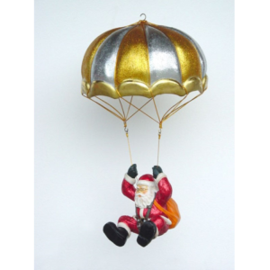 1043 Santa Claus Parachute Glitter - Kerstman