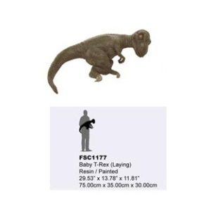 TB-FSC-1177 Baby T-Rex Laying - Dinosaurus