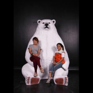 H-130086 Sitting Polar Bear Jumbo - IJsbeer