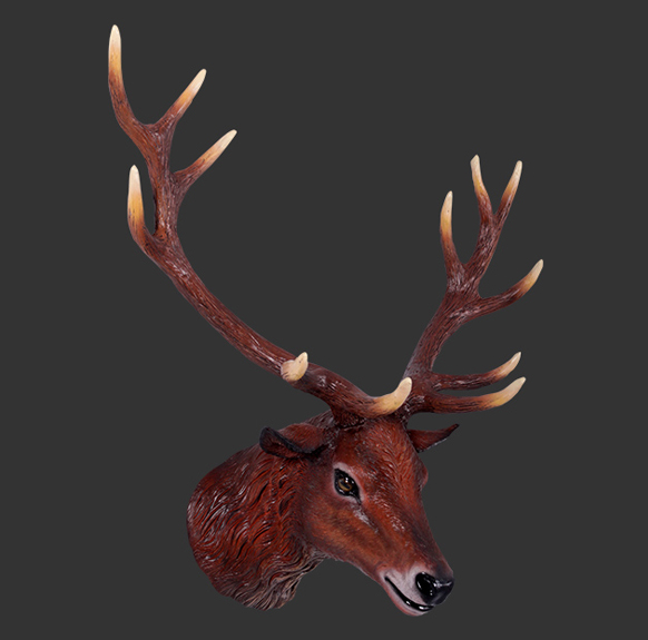 H-130095 Red Deer Stag Head - Hert
