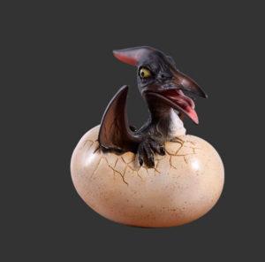 H-140037 Baby Pteranodon Hatching - Dinosaurus