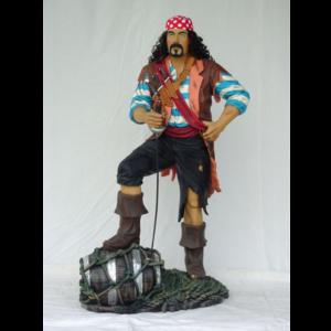 1430 Pirate wit Barrel - Piraat