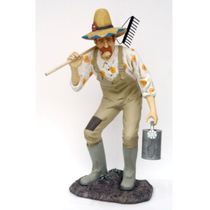 1508 Gardener with Rake - Tuinman