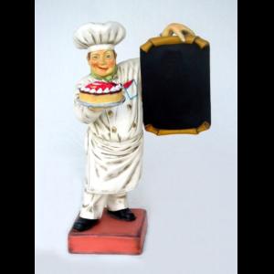 1534 Baker Menubord with Cake - Bakker