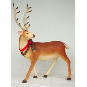 1558 Santa Reindeer Long Horn - Rendier
