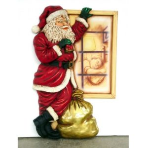 1651 Santa Standing by Window 3 ft. - Kerstman