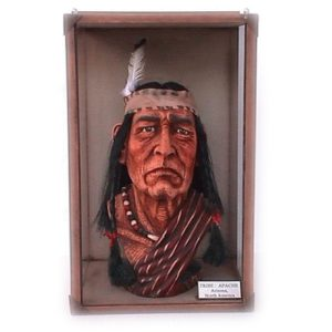 1668 Head Apache Tribe - Indiaan