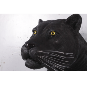H-170003 Black Panther Head Wall Decor - Panter