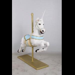 H-170157 Christmas Carousel Horse Unicorn - Paard