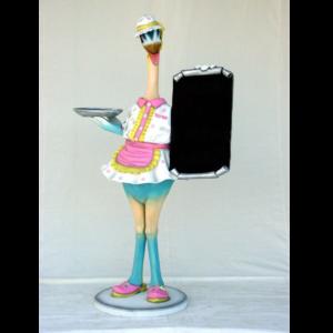1746 Bird Waitress - Menubord