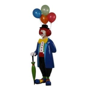 H-180169 Clown with Umbrella and Balloons