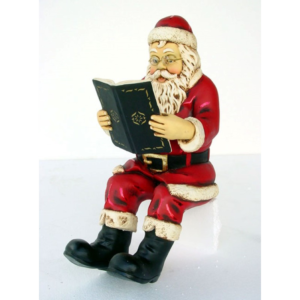 1976 Santa Claus Sitting with Book 2 ft. - Kerstman