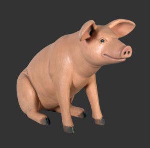 H-20601 Sitting Pig - Varken