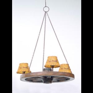 2100 Lamp Wagon Wheel Chandelier - Wagenwiel