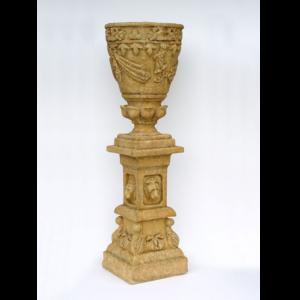 2142-SS Vase Lion Yellow - Plantenbak