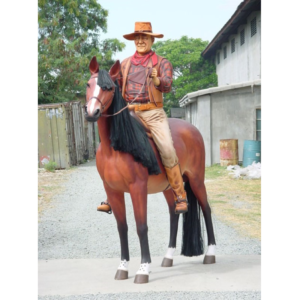 2143 Horse Life Size with Cowboy - Paard