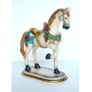 2152 Horse with Base with Flower - Paard