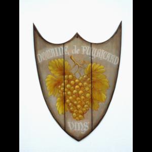 2164 Wine - Wijn Shield - Pubbord