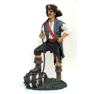 2433 Pirate Funny with Barrel - Piraat