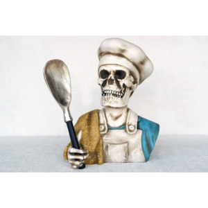 2438 Body Skull Head Cook - Kok