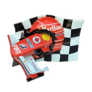 2507 Car Racing Checkered Flag with F1 Nose - Formule 1