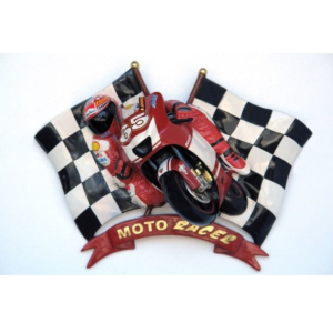 2583 Motorracer with Checkered Flag - Motor