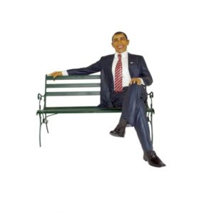 2593 Man sitting with Bench - Obama