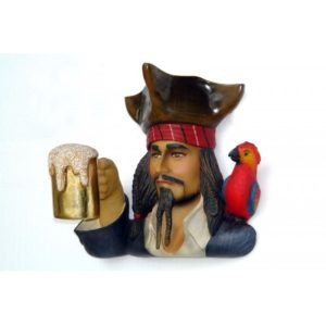 2754 Pirate Head with Beer - Piraat
