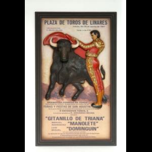 2764 Pubbord Stierenvechter met Stier - Matador