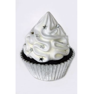 2828 Cupcake with Silver Leaf - 66 cm