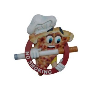 2864 Pizza No Smoking Sign - Roken