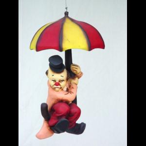 0287 Clown with Umbrella Small