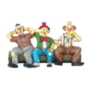 0361 Clowns on Bench - Clown