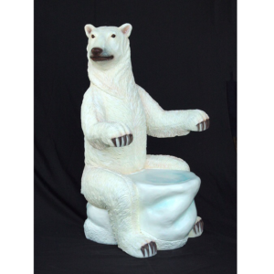 5026 Chair Polar Bear with Armrest - IJsbeer