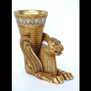 5033 Egyptian Leeuw Vaas - Egypte