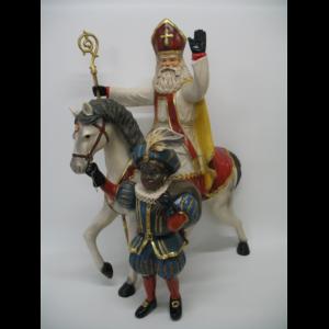 ALD5098 Sinterklaas met Zwarte Piet - Sint - 70 cm
