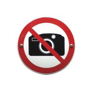 Verboden Bord #V01 Fotograferen verboden 10x10cm