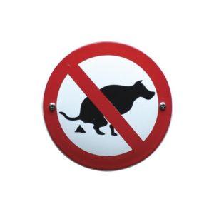 Verboden Bord #V12 Uitlaat verbod 10x10cm