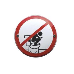 Toilet Bordje #W20 10x10cm