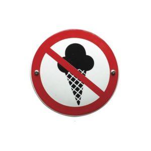 Verboden Bord #V02 Verboden voor IJs 10x10cm