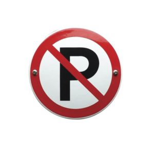 Verboden Bord #V18 Parkeer verbod 10x10cm
