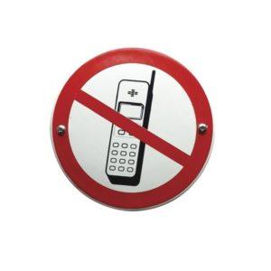 Verboden Bord #V17 Mobiele telefoons 10x10cm