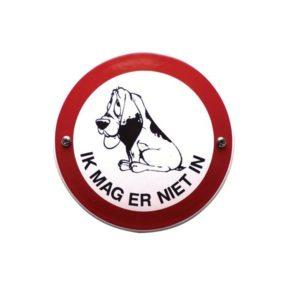 Verboden Bord #V15 Verboden voor honden 10x10cm