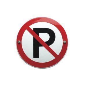 Verboden Bord #V03 Parkeer verbod 10x10cm