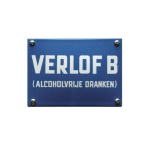 Horeca Emaille #KNH58 Verlof B 10x14cm