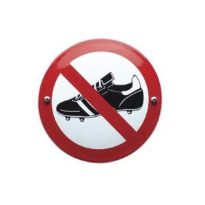 Verboden Bord #V11 Voetbalschoenen 10x10cm